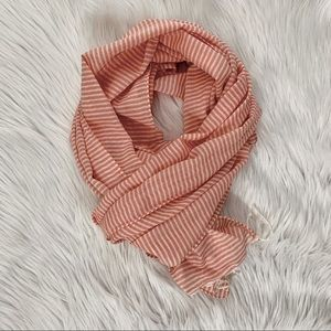 American Eagle Pink Striped Lightweight Scarf